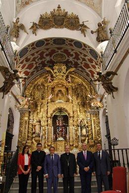 Iluminación del interior de la Iglesia de Santa María de las Nieves.