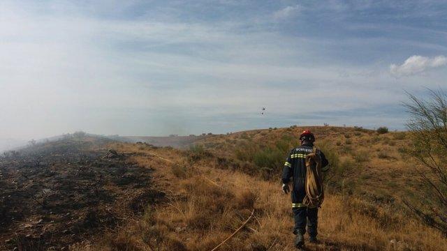 Incendio en el término municipal de Azuara