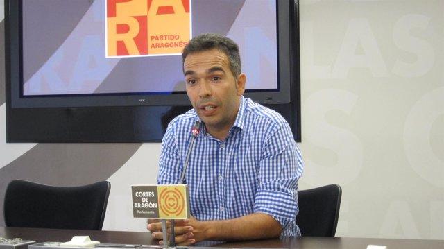 Jesús Guerrero, diputado del PAR por Huesca en las Cortes de Aragón