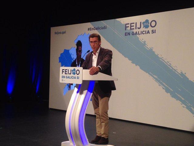 Feijóo, presidente de la Xunta y candidato a la reelección