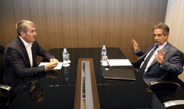 Clavijo y Revilla durante su reunión en Madrid