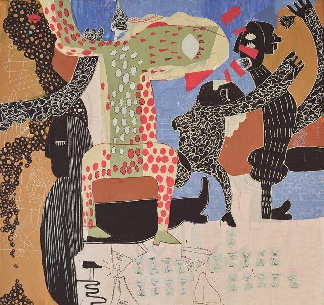 Una de las obras de la exposición 'Menú económico'