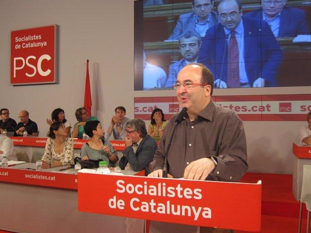 Miquel Iceta interviene en el Consell Nacional del PSC