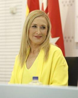 Cristina Cifuentes en rueda de prensa