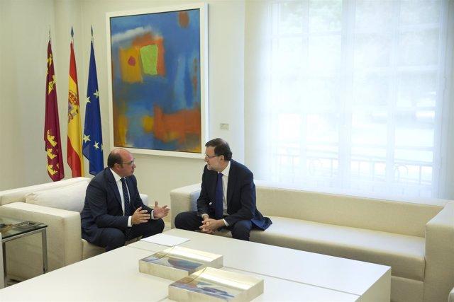 Pedro Antonio Sánchez y Mariano Rajoy