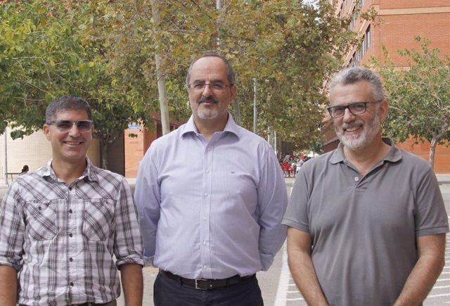 Los investigadores de la UV Jose M. Pavia; Anselm Bodoque y Joaquin Martin