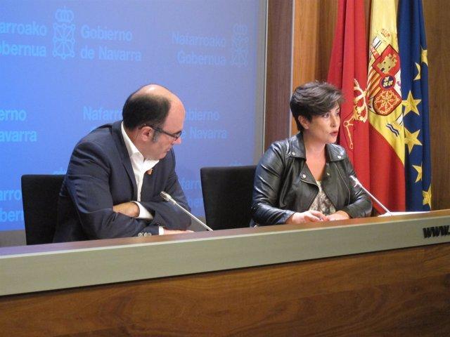 Manu Ayerdi y María Solana.