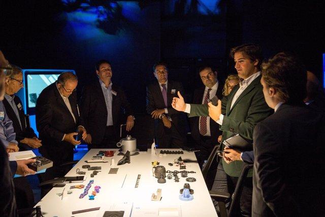 Sala dedicadas a la impresión 3D de HP en la sede de Sant Cugat del Vallès