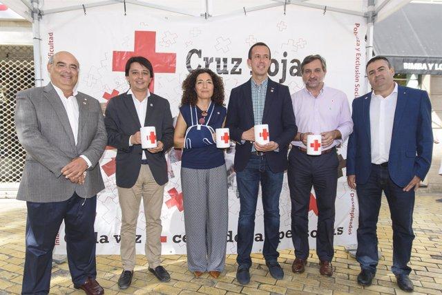 Las instituciones públicas han arropado a Cruz Roja en el 'Día de la Banderita'.
