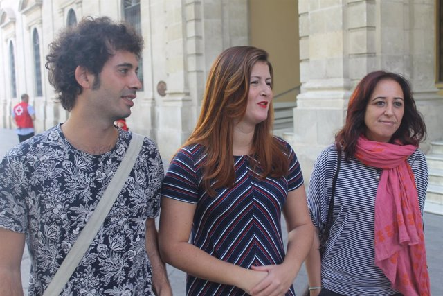 Los concejales de Participa Sevilla.