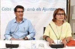 Jorge Rodríguez y la diputada Conxa García