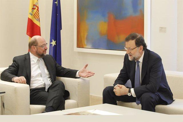 Mariano Rajoy y Martin Schulz