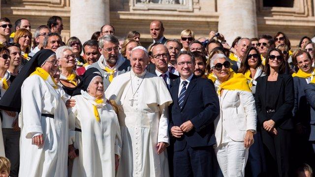 Audiencia del Papa al programa Invulnerables con J.Giró y Sor Lucía Caram