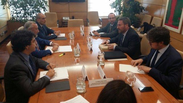 Reunión del Gobierno de Aragón con el Ministerio de Fomento