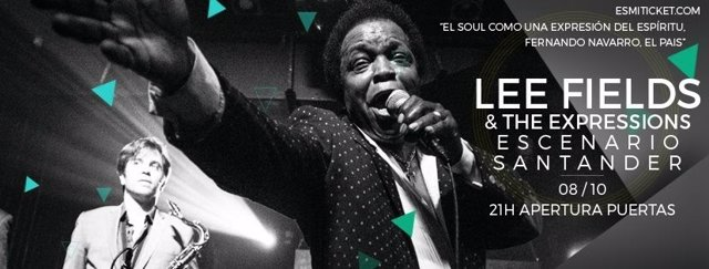 Lee Fields en Escenario Santander