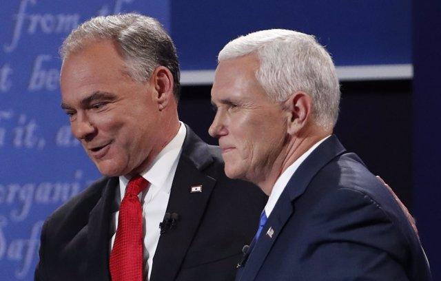 Debate televisado entre Tim Kaine y Mike Pence