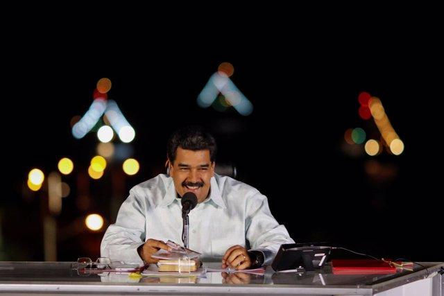 Nicolás Maduro en la isla Margarita