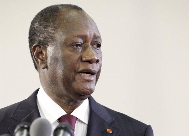 El Presidente Electo De Costa De Marfil, Alassane Ouattara