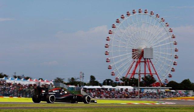 Fernando Alonso (McLaren) en el GP Japón 2015
