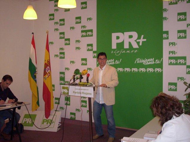 El presidente del PR+, Fernando Gómez Herrainz