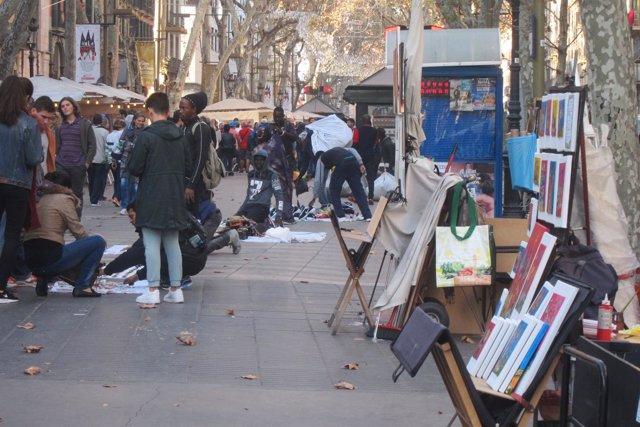 Top manta en Barcelona