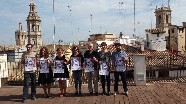 Presentación de la cuarta edición de la Plaça del Llibre en el Centre Octubre