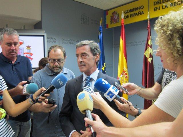 El delegado del Gobierno en la Región de Murcia, Antonio Sánchez-Solís