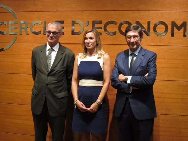 A.Costas (Círculo), E.Abans (EY Catalunya) y J.I.Goirigolzarri (Bankia)