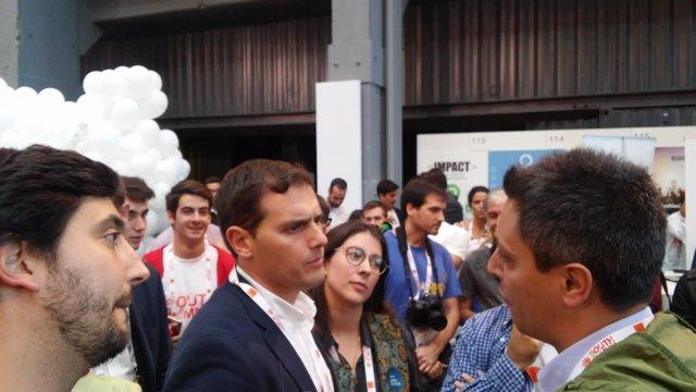 Albert Rivera y Toni Roldán en South Summit 2016