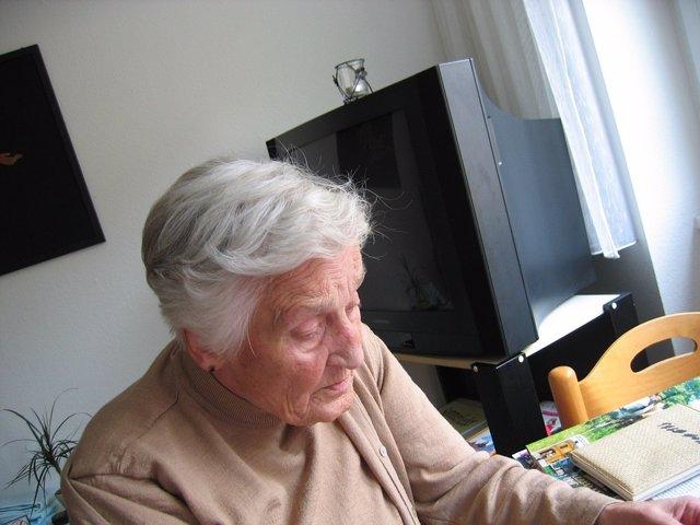 Alzheimer. Mayor. Anciana