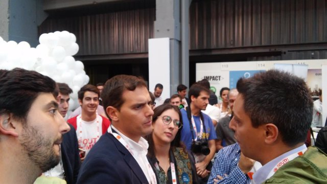 Albert Rivera y Toni Roldán en South Summit 2016