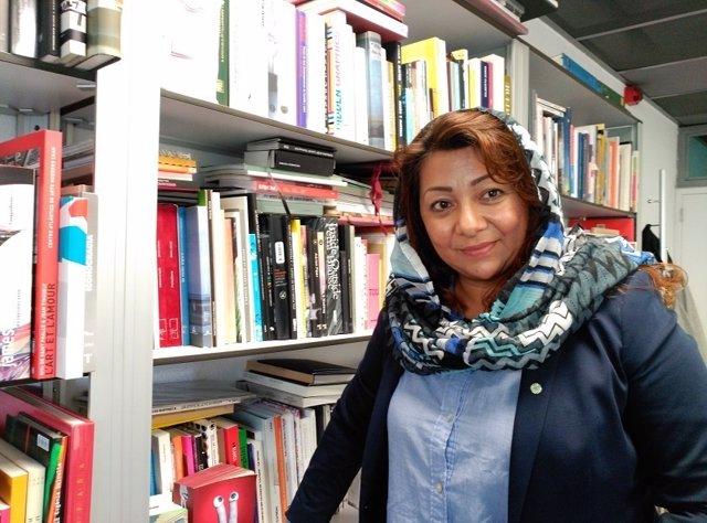 La activista afgana Azita Rafaat