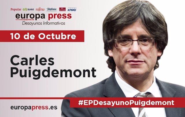 Carles Puigdemont, en el Desayuno Informativo de Europa Press del 10 de octubre