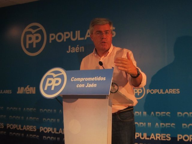 José Enrique Fernández de Moya, en la rueda de prensa