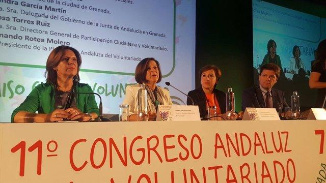 Apertura del XI Congreso Andaluz del Voluntariado celebrado en Granada