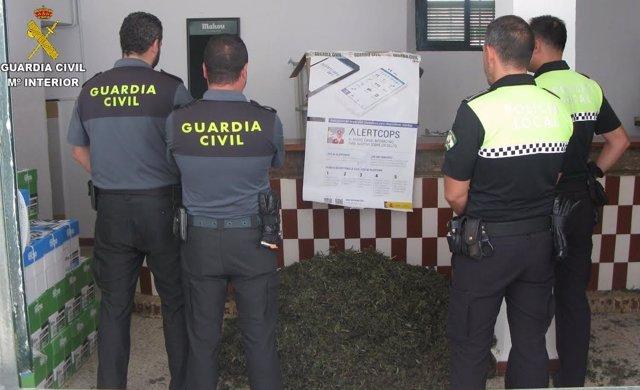 Marihuana incautada en Ayamonte.