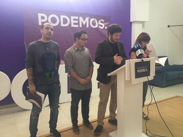 El secretario general de Podemos Baleares, Alberto Jarabo
