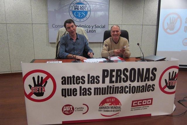 Hernández y Temprano en la jornada por el trabajo decente