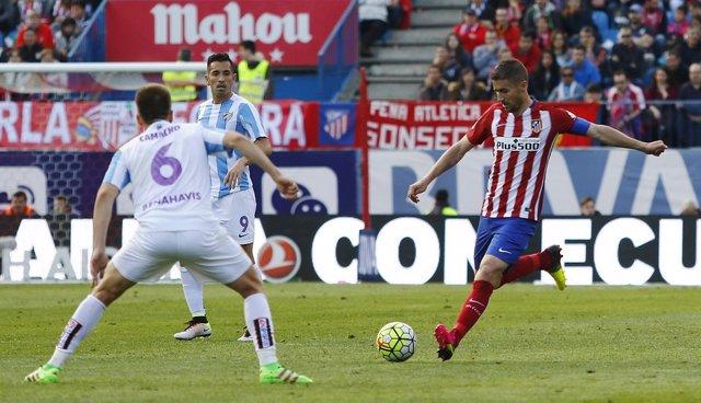 Gabi y Camacho en el Atlético de Madrid-Málaga