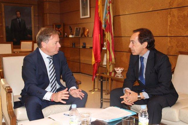 Moragues reunido con representante de Puerto Mediterráneo