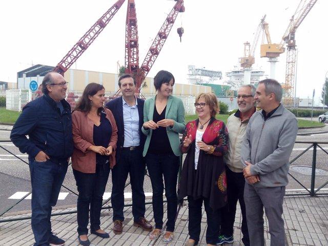 La portavoz nacional del BNG, Ana Pontón, en Vigo