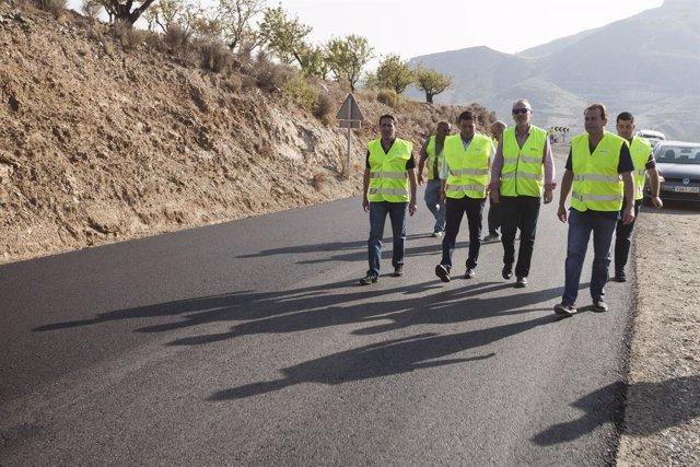 Diputación mejora la señalización en las carreteras provinciales.