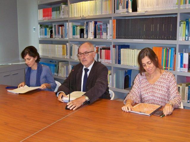 Síndic de Greuges Rafael Ribó, Maria Jesús Larios, Judit Sartorio