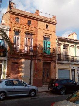 Edificios ocupado en EL Cabanyal donde se ha impedido el acceso a los técnicos