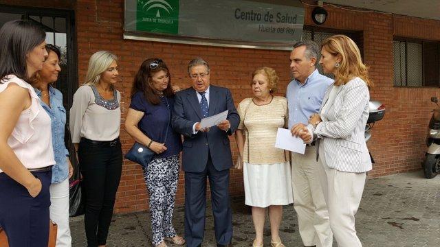 Visita al centro de salud de Huerta del Rey.