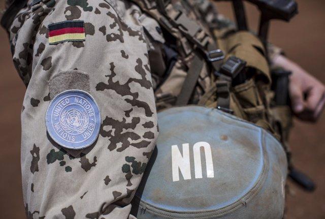 Un militar alemán integrante de la misión de la ONU en Malí (MINUSMA)