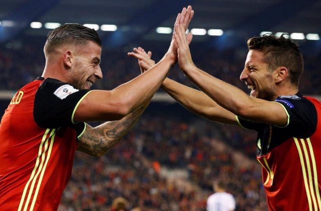 La selección de Bélgica vence con Roberto Martínez