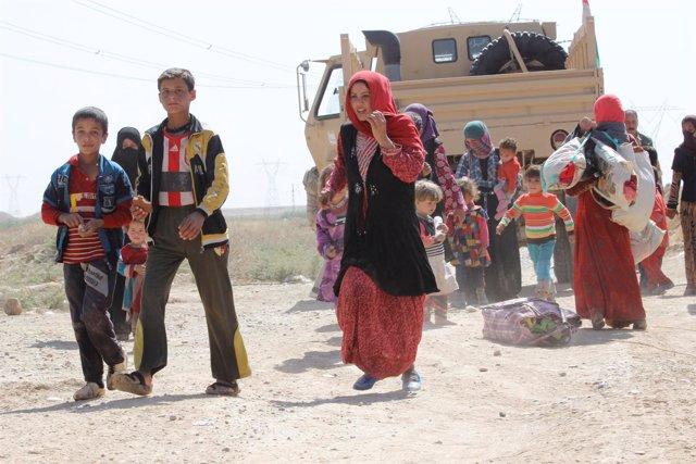 Desplazados por Estado Islámico llegan a Kirkuk