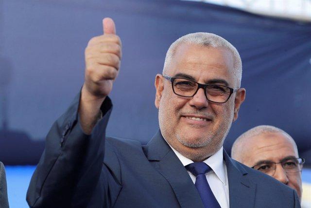 El líder del PDJ y primer ministro de Marruecos, Abdelilá Benkirán