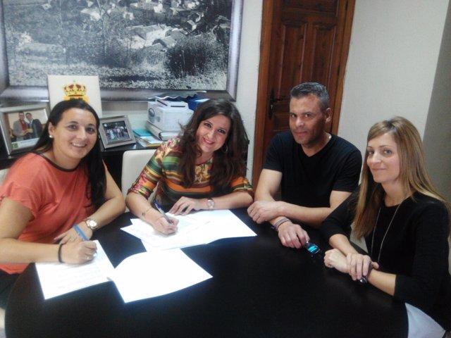 Firma de convenio entre la Junta y la escuela infantil de Jimena (Jaén)